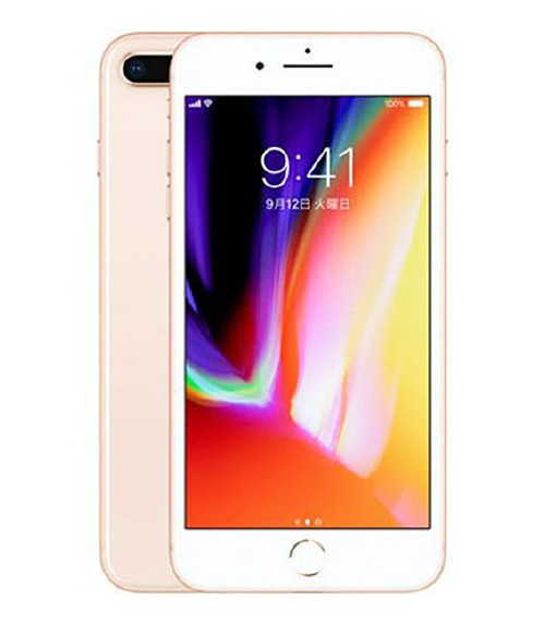 【中古】【安心保証】 au iPhone8Plus[64GB] ゴールド