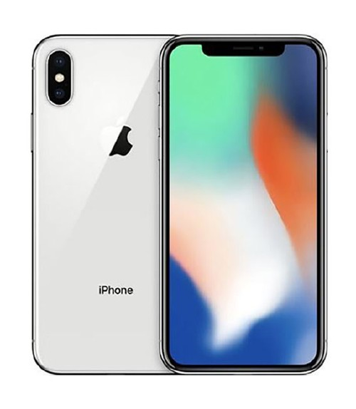 【中古】【安心保証】 au iPhoneX[256GB] シルバー
