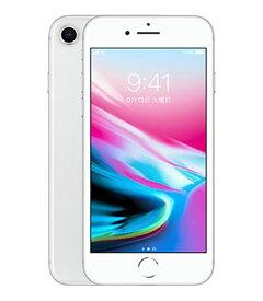 【中古】【安心保証】 iPhone8[256GB] SIMフリー シルバー