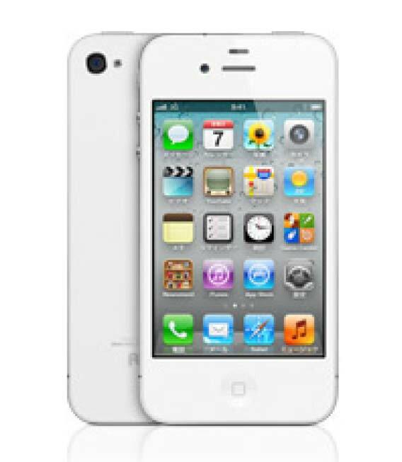 【中古】【安心保証】 SoftBank iPhone4[8GB] ホワイト