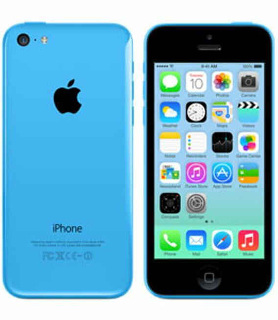 【中古】【安心保証】 SoftBank iPhone5c[16G] ブルー