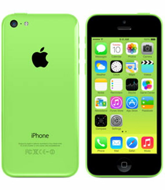 【中古】【安心保証】SoftBank iPhone5c[16G] グリーン