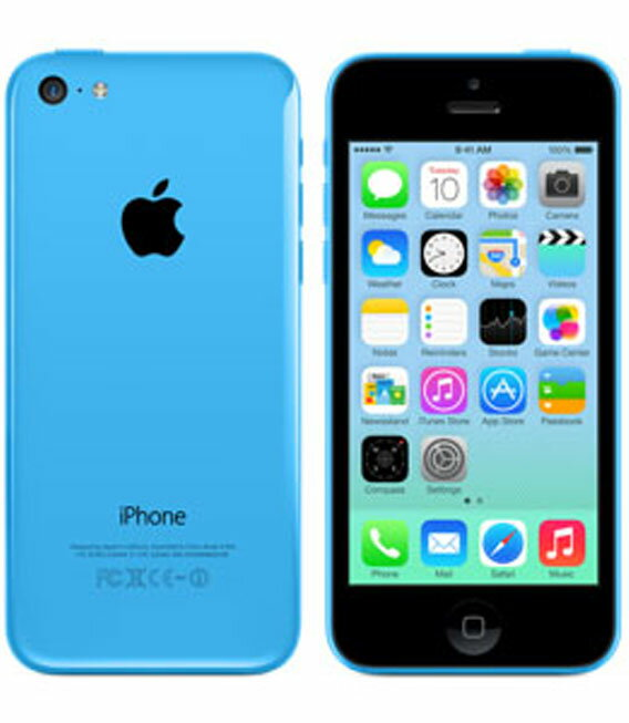 【中古】【安心保証】 au iPhone5c[32G] ブルー