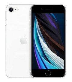 【中古】【安心保証】 UQモバイル iPhoneSE 2[128G] ホワイト