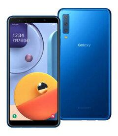 【中古】【安心保証】 SIMフリー Galaxy A7 ブルー