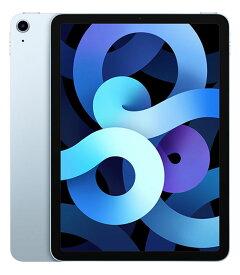 【中古】【安心保証】 iPadAirー10.9 4[WiFi64G] ブルー