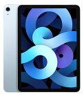 【中古】【安心保証】 au iPadAirー10.9 4[セルラー64G] ブルー