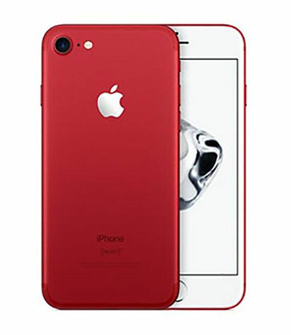 【中古】【安心保証】 docomo iPhone7 128GB レッド SIMロック解除済