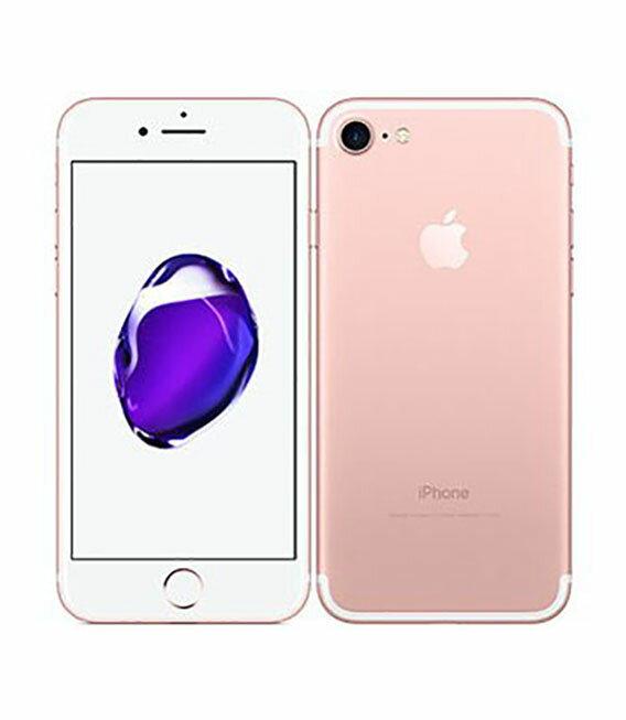 【中古】【安心保証】 docomo iPhone7 32GB ローズゴールド SIMロック解除済