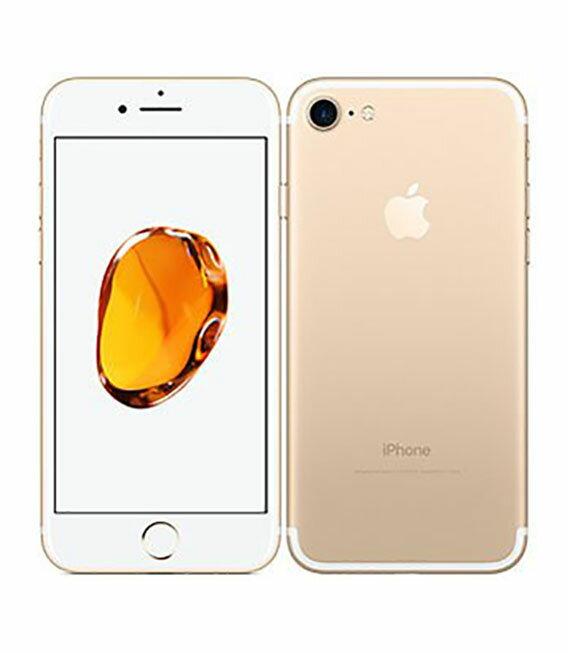 【中古】【安心保証】 docomo iPhone7 256GB ゴールド SIMロック解除済