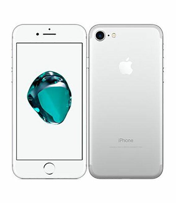 【中古】【安心保証】 docomo iPhone7 128GB シルバー SIMロック解除済