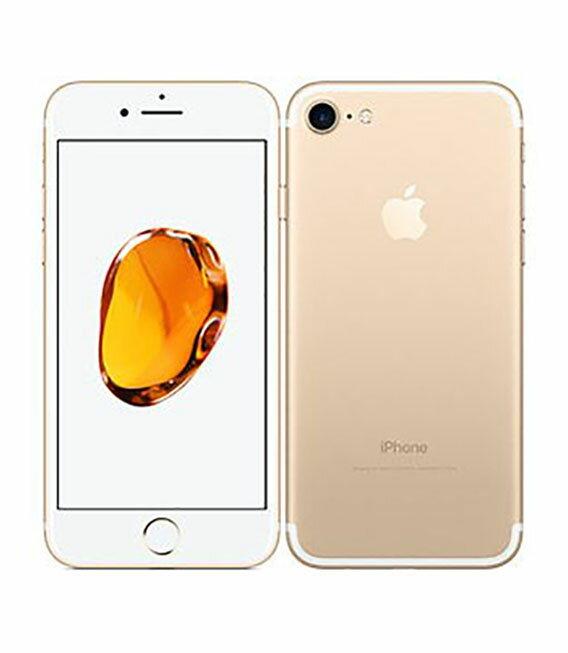 【中古】【安心保証】 docomo iPhone7 128GB ゴールド SIMロック解除済