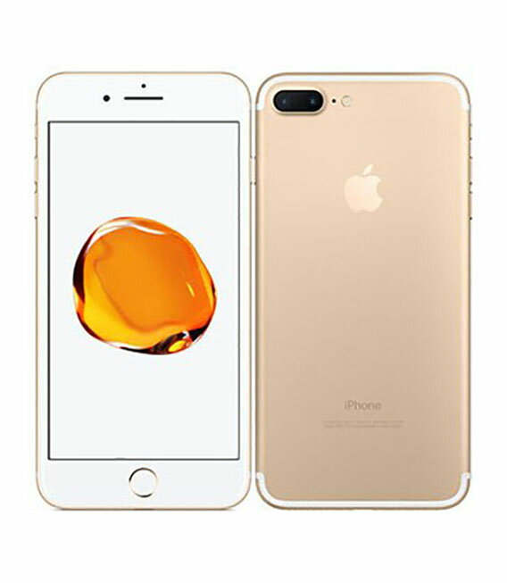 【中古】【安心保証】 SoftBank iPhone7Plus 32GB ゴールド SIMロック解除済