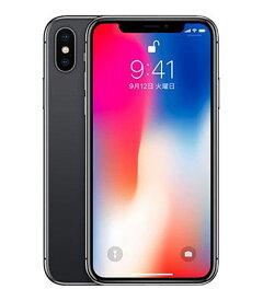 【中古】【安心保証】 au iPhoneX[256G] スペースグレイ SIMロック解除済