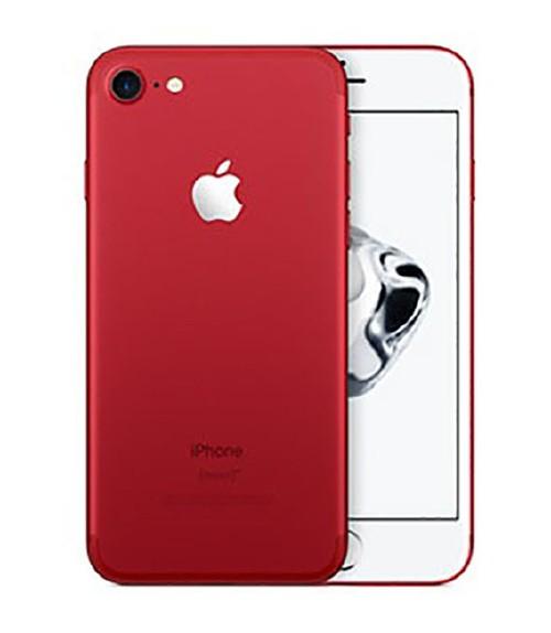 【中古】【安心保証】 au iPhone7[128GB] レッド