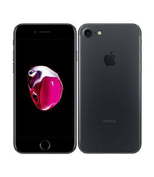 【中古】【安心保証】 au iPhone7[128GB] ブラック