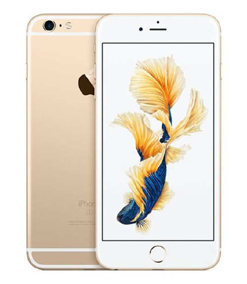 【中古】【安心保証】 au iPhone6sPlus[128G] ゴールド
