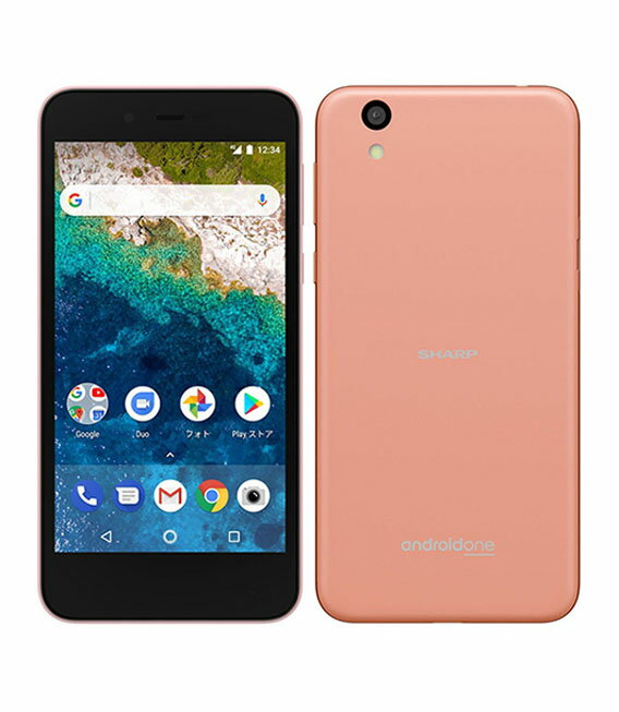 【中古】【安心保証】 SoftBank Android One S3 ピンク