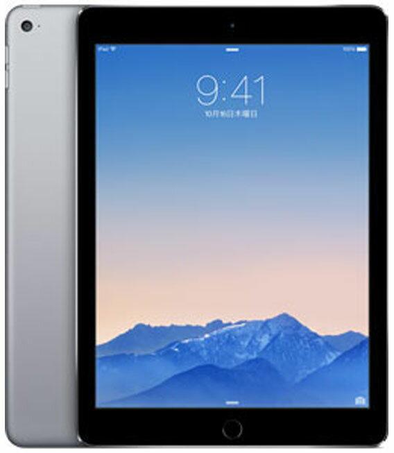 【中古】【安心保証】 SoftBank iPadAir2_6[4G128GB] グレイ