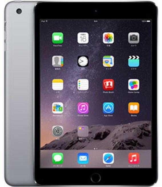 【中古】【安心保証】 SoftBank iPadmini3[WiFi+4G 16] グレイ