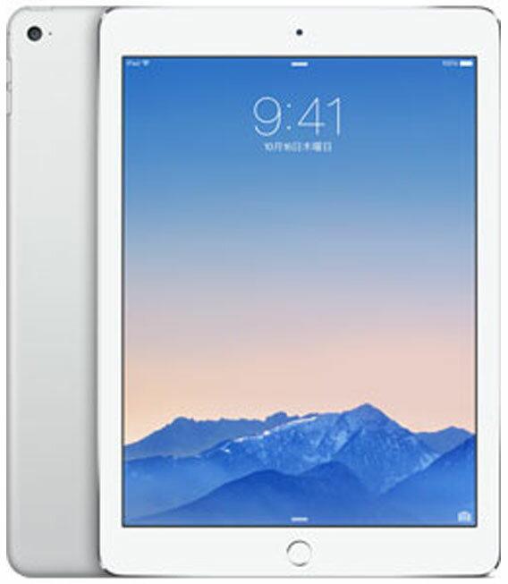 【中古】【安心保証】 au iPadAir2_6[4G64GB] シルバー