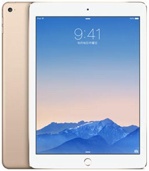 【中古】【安心保証】 au iPadAir2_6[4G64GB] ゴールド