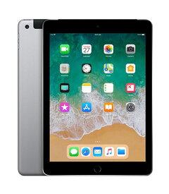 【中古】【安心保証】 SoftBank iPad-9.7_6[セルラー128G] グレイ