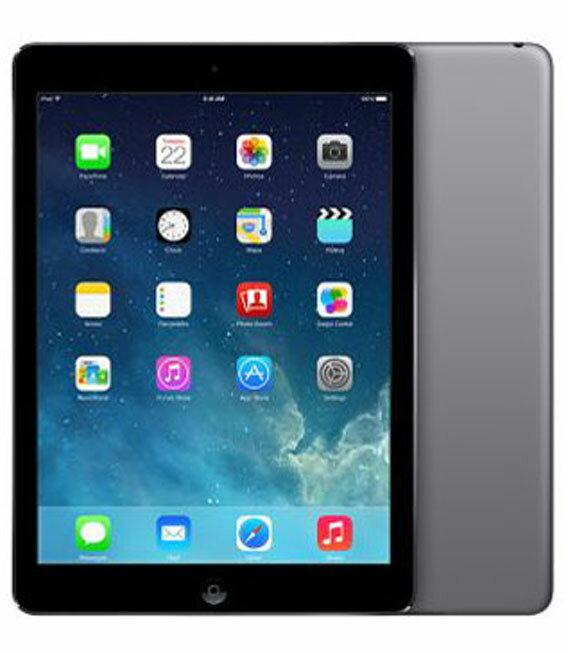 【中古】【安心保証】 docomo iPadAir_1[セルラー16GB] グレイ