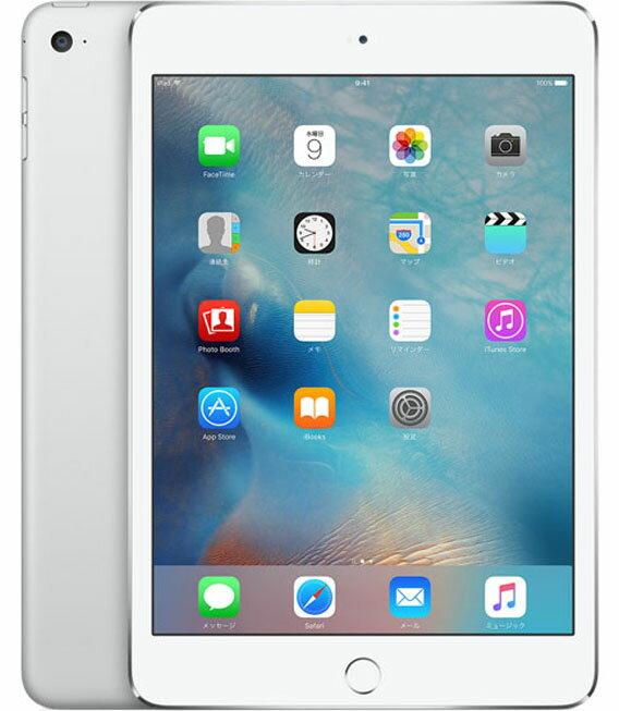 【中古】【安心保証】 au iPadmini4[セルラー16G] シルバー