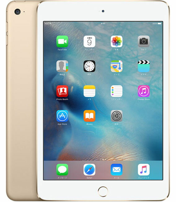 【中古】【安心保証】 SoftBank iPadmini4[セルラー16G] ゴールド