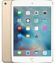 【中古】【安心保証】 au iPadmini4[セルラー128G] ゴールド