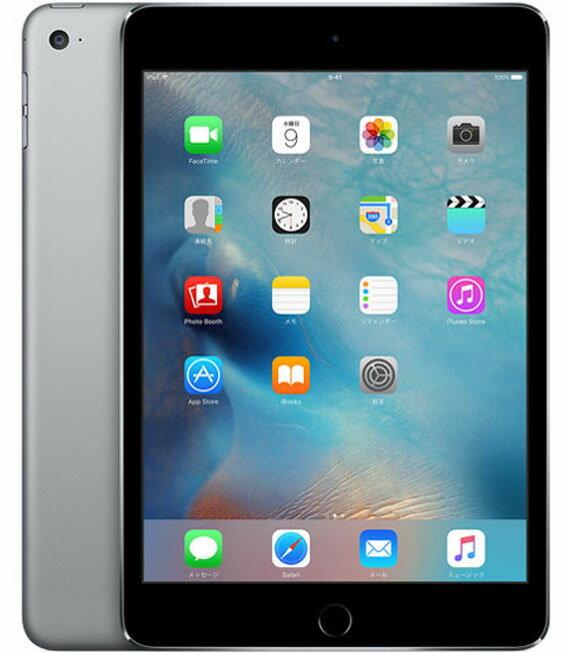 【中古】【安心保証】 iPadmini4[WiFi128G] グレイ