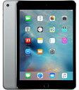 【中古】【安心保証】 au iPadmini4[セルラー16G] グレイ