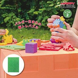 ベルギー生まれの3D脳トレパズル HAPPY CUBE(ハッピーキューブ) レベル2 グリーン パズル 知育玩具 おでかけ おもちゃ 5歳 6歳 7歳 8歳 小学生 大人 高齢者 幼児 子供 男の子 女の子 誕生日 プレゼント プチギフト