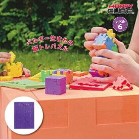 ベルギー生まれの3D脳トレパズル HAPPY CUBE ハッピーキューブ レベル6 パープル パズル 知育玩具 おでかけ おもちゃ 5歳 6歳 7歳 8歳 小学生 大人 高齢者 男の子 女の子 記念品 誕生日 プレゼント プチギフト
