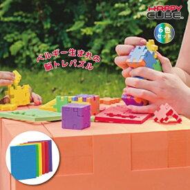 ベルギー生まれの3D脳トレパズル HAPPY CUBE 6色セット レベル1〜6 立体パズル プチギフト 子供 知育玩具 おでかけ おもちゃ 5歳 6歳 7歳 8歳 小学生 大人 高齢者 男の子 女の子 誕生日 プレゼント ハッピーキューブ 記念品