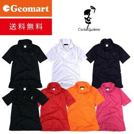 ポロシャツ 半袖 メンズ スカル ゴルフウェア Golf (吸水速乾 UVカット ドライ クールビズ ドクロ)【CacheQuelette カシュクレット 】 プレゼントにも人気 【 あす楽 】 【 送料無料 】【ギフト】
