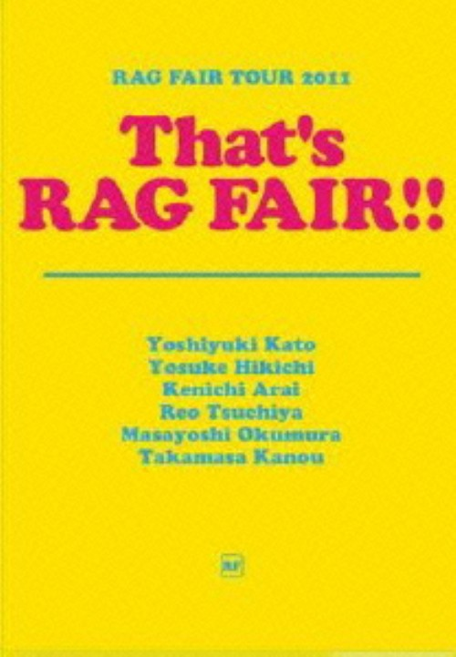 【中古】RAG FAIR TOUR 2011 That'S RAG FAIR!!/RAG FAIRDVD/映像その他音楽