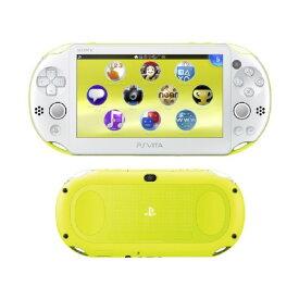 【中古・箱説あり・付属品あり・傷なし】PlayStation Vita Wi−Fiモデル PCH−2000ZA13 ライムグリーン/ホワイトPSVita ゲーム機本体