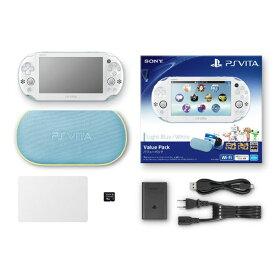 【中古・箱説あり・付属品あり・傷なし】PlayStation Vita Value Pack PCHJ−10013 ライトブルー/ホワイト (付属品の付属は無し)PSVita ゲーム機本体