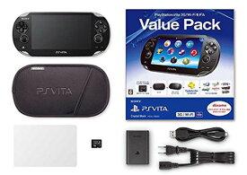 【中古・箱説あり・付属品あり・傷なし】PlayStation Vita Value Pack 3G/Wi−Fiモデル PCHJ−10023 クリスタル・ブラック (付属品の付属は無し)PSVita ゲーム機本体