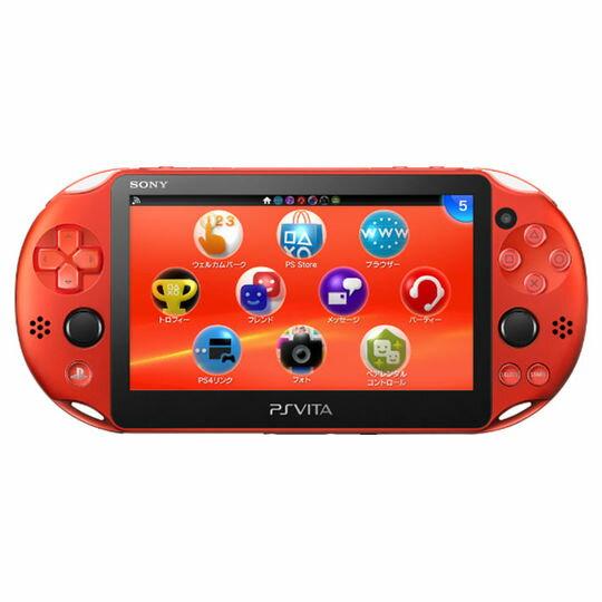 【箱説なし・付属品なし・傷なし】PlayStation Vita Wi−Fiモデル PCH−2000ZA26 メタリック・レッド