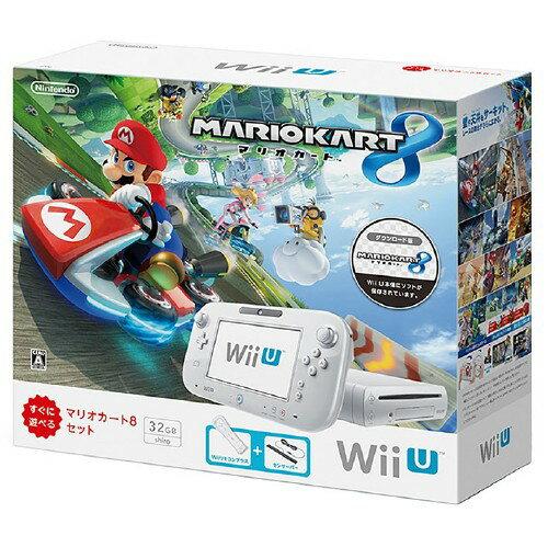【中古・箱無・説明書有】Wii U マリオカート8 セット シロ (同梱版)