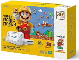 【中古・箱説なし・付属品なし・傷なし】Wii U スーパーマリオメーカー スーパーマリオ30周年セット (同梱版)Wii U ゲーム機本体