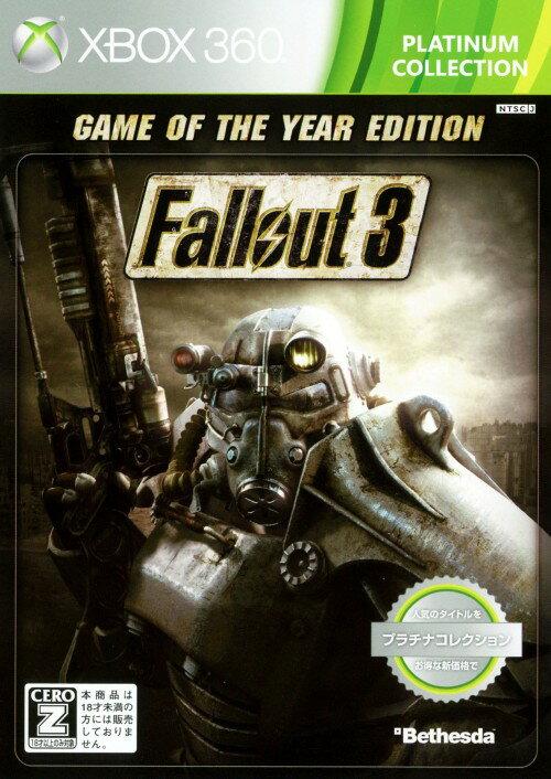 【中古】【18歳以上対象】Fallout3 Game of the Year Edition Xbox360 プラチナコレクション