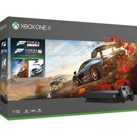 【中古・箱説あり・付属品あり・傷なし】Xbox One X (Forza Horizon 4/Forza Motorsport 7 同梱版)XboxOne ゲーム機本体