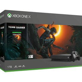 【中古・箱説あり・付属品あり・傷なし】【18歳以上対象】Xbox One X (シャドウ オブ ザ トゥームレイダー同梱版)XboxOne ゲーム機本体