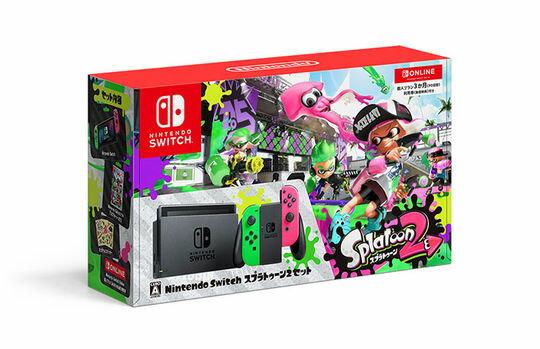 【箱説あり・付属品あり・傷なし】Nintendo Switch スプラトゥーン2セット (ソフトの付属は無し)ニンテンドーSwitch ゲーム機本体