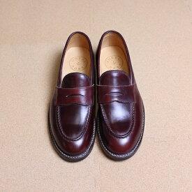 """【期間限定ポイント5倍】WHEELROBE(ウィールローブ) """"HEAVY STITCHING LOAFER(ヘビースティッチングローファー)"""" wheelrobe 15079 BLACK(ブラック)、BURGUNDY(バーガンディ) 革靴 ドレスシューズ ビジネスシューズ レザー クロムエクセル ホーウィン"""