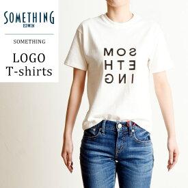 【再値下げ】SALEセール20%OFF 2019春夏新作 サムシング SOMETHING ロゴ プリント クルーネック 半袖 Tシャツ レディース ロゴT 大人かわいい おしゃれ ST548